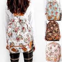 Womens Girls  Lovely Flower   Book Bag Backpack Campus Life