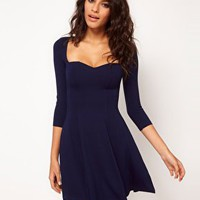 ASOS Skater Dress With Sweetheart Neck at asos.com