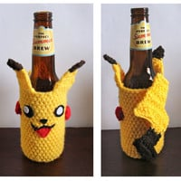 Pikachu-Inspired Bottle Cozy