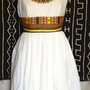 Caped sleeve Dashiki accented dress (Maxi version)