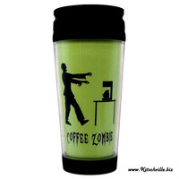 Coffee Zombie Funny Thermal Insulated Travel Mug