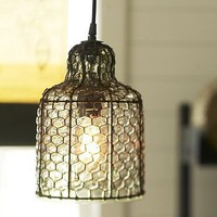 Harlowe Wire Pendant | Pottery Barn