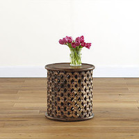 Tribal Carved Wood Accent Table | Living Room Furniture| Furniture | World Market
