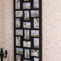 Amazon.com: 24 Opening Wooden Wall Black Collage Photo Picture Frame Wall Decor, Holds Twelve 4-by-6-inch and Twelve 6-by-4-inch Photos: Home & Kitchen