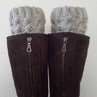 Short Leg warmers / Boot socks / Boot cuffs / Boot tops for girls, teens, women - LINEN - (more colors available)