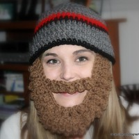 Crocheted Bearded Beanie on Luulla