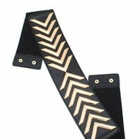 chevron-trim-stretch-belt BLACKGOLD - GoJane.com