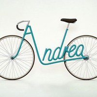 Your Name in Bikes: Juri Zaech's Typography Bikes Personalize Your Green Ride | Inhabitat - Green Design Will Save the World