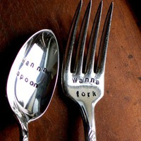 Wanna Spoon  Wanna Fork  Organically Upcycled by SycamoreHill