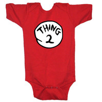 Funny, Dr. Seuss Thing 2, Child's Shirt All Sizes From Infant to Youth Free Ship