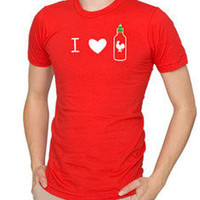 I Heart Sriracha Shirt - The Oatmeal