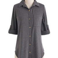 Keep It Casual-Cool Top | Mod Retro Vintage Long Sleeve Shirts | ModCloth.com