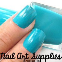 Turquoise Splash - Turquoise Blue Nail Polish Lacquer 16ml from nailartsupplies