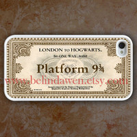 iPhone 4 Case, iphone 4s case, Hogwarts Express Train Ticket  white iphone 4 case, harry potter