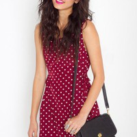 Spotted Shift Dress - NASTY GAL
