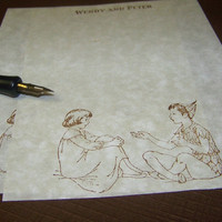 Peter Pan and Wendy  Lovely Parchment Paper by WritingsByBluebirds