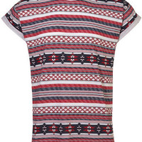 Multi Pattern Roll Up T-Shirt - Latest Trend  - Clothing