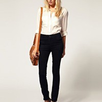 ASOS | ASOS Waisted Panelled Skinny Jeans at ASOS