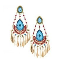 ASOS | ASOS Chandelier Earrings with Multicoloured Faceted Stones at ASOS