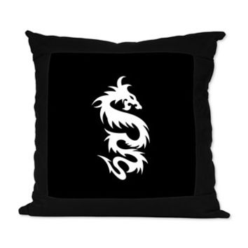 Chinese Dragon Suede Pillow> Chinese Mythology Dragon> Strawberry and Hearts