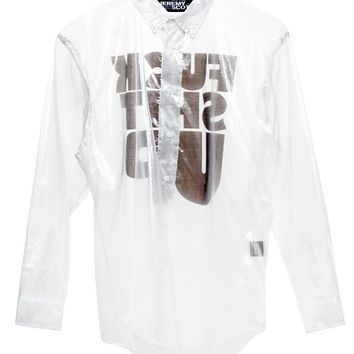 Fuck Shit Up Sheer Shirt - JEREMY SCOTT