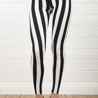3137 Black Stripe Print Legging  and Shop Apparel at MakeMeChic.com
