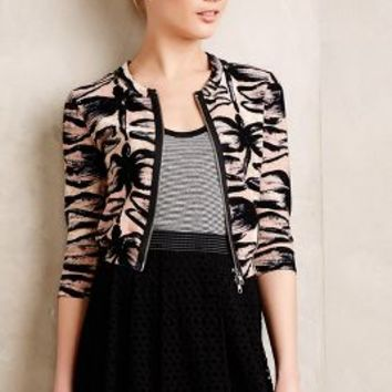 Dragonfly Cropped Cardi by Tracy Reese Black Motif
