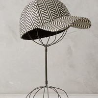 Sawtooth Ball Cap by Anthropologie Black & White One Size Scarves