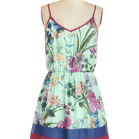 ModCloth Short Length Spaghetti Straps A-line Taste for the Tropical Dress