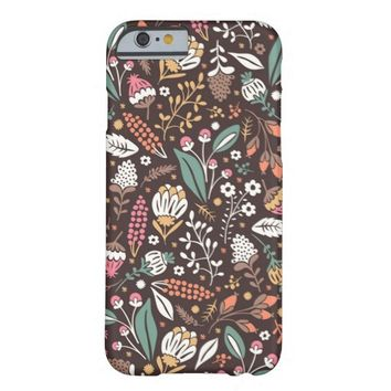 Cute Colorful Vintage Floral Pattern iPhone 6 Case