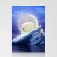 Guard Your Heart. Protect Your Dreams. (Polar Moon) Stationery Cards by Soaring Anchor Designs