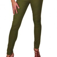 Low-Rise Green Skinny Jean