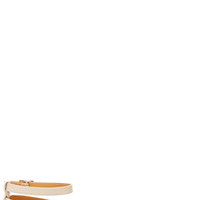 Frame to Please Nude Pointed Ankle Strap Flats