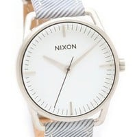 Nixon The Mellor Pinstripe Watch | SHOPBOP