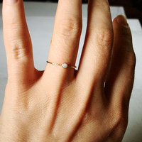 Golden Orbital Ring Simple Beautiful Stacking Ring by MARYJOHN