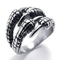 Titanium Steel Claw Ring by Julyjoy
