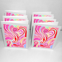 6 Blank Greeting Cards: Blossoming .. on Luulla
