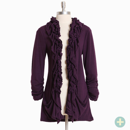 speechless beauty curvy plus ruffle cardigan - $32.99 : ShopRuche.com, Vintage Inspired Clothing, Affordable Clothes, Eco friendly Fashion