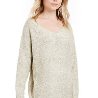 DailyLook: Jonas V-Neck Knit Sweater in Beige S/M - M/L