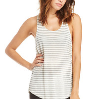DailyLook: DAYDREAMER Joni Striped Tank Top in Black / Beige M