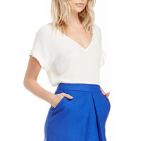 DailyLook: Single Pleat Skirt in Royal blue S - L