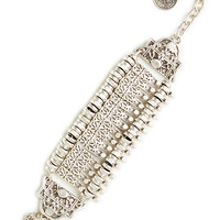 DailyLook: Chanour Multi Plate Bracelet in Silver