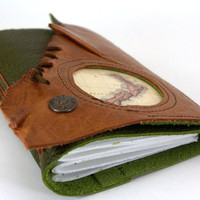Old World Leather Travel Journal - New Zealand - (med)