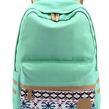 Santimon - Causal Style Lightweight Canvas Laptop Bag/Cute backpacks/ Shoulder Bag/ School Backpack/ Travel Bag darkblue