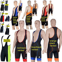 Cycle Bib Shorts cycling Padded tights coolmax rowing triathlon compression mens
