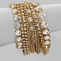 ABS by Allen Schwartz Jewelry - Multi-Row Chain Link Bracelet