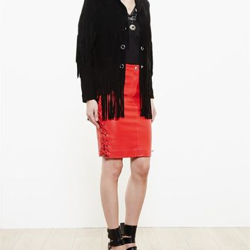 Leather Skirt - AMERICAN RETRO
