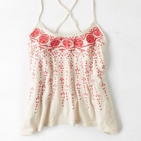 AEO Women's Embroidered Racerback Cami