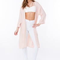 Crepe Open Front Duster