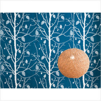 ferm LIVING Family Tree Wallsmart Wallpaper in Petrol | All Modern